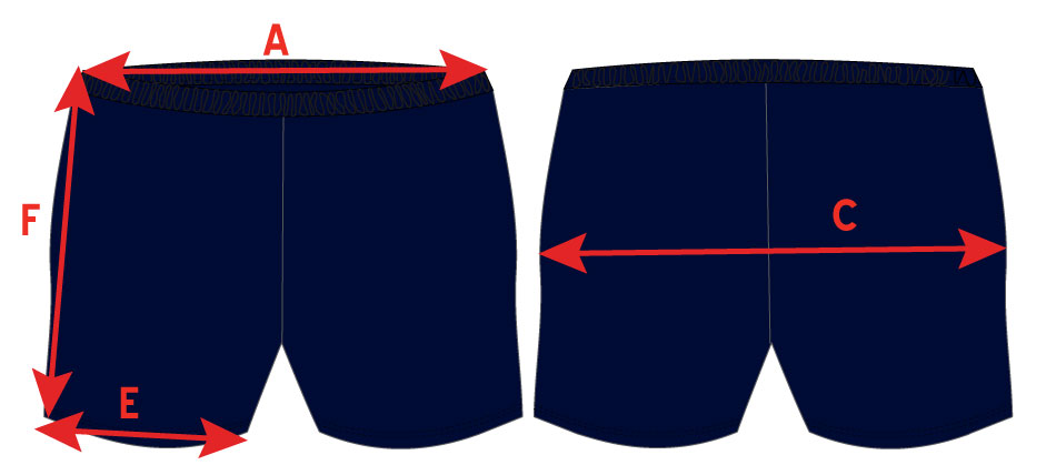 Boy Leg Shorts Measurement Refs